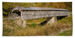 Beech Fork Or Mooresville Covered Bridge Hand Towel