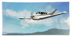 Beechcraft Bonanza V Tail Bath Towel