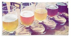 Hand Towel featuring the photograph Beer Flight by Nina Prommer