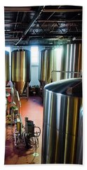 Hand Towel featuring the photograph Beer Vats by Linda Unger