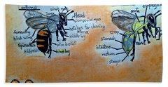 Bees  Bath Towel by Francine Heykoop