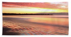 Before Sunrise At First Beach Hand Towel by Roupen  Baker