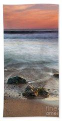 Before Sunset At Shell Beach Hand Towel