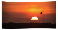 Before The Setting Sun Hand Towel