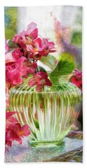 Begonia Art Bath Towel