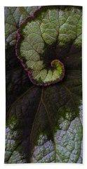 Begonia Leaf Close Up Hand Towel