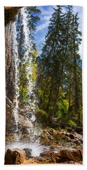 Behind Spouting Rock Waterfall - Hanging Lake - Glenwood Canyon Colorado Bath Towel by Brian Harig