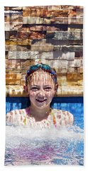 Bath Towel featuring the photograph Behind The Falls by Linda Lees