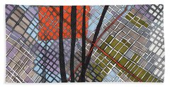 Behind The Fence Hand Towel by Sandra Church