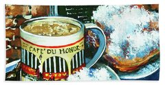 Beignets And Cafe Au Lait Hand Towel