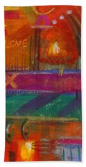 Bath Towel featuring the painting Being In Love by Angela L Walker