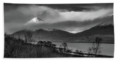 Beinn Na Cro And Loch Slapin, Isle Of Skye Hand Towel