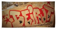 Beirut On A Graffiti Wall Hand Towel