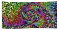 Bejeweled Fractal Abstract Hand Towel