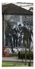 Belfast Mural - Civil Rights Association - Ireland Bath Towel