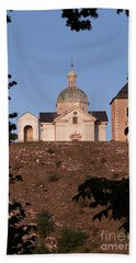 Hand Towel featuring the photograph Belfry And Chapel Of Saint Sebastian by Michal Boubin