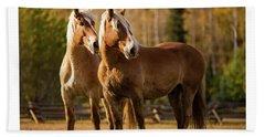 Belgian Draft Horses Hand Towel