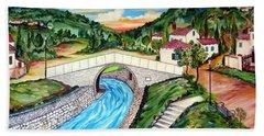 Beli Most Vranje Serbia Hand Towel by Roberto Gagliardi