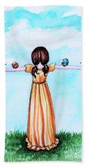 Believe Bath Towel by Elizabeth Robinette Tyndall