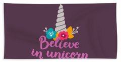 Believe In Unicorn Hand Towel