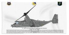 Bell Boeing Cv-22b Osprey 20sos Bath Towel