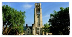 Bell Tower At The University Of Toledo Hand Towel