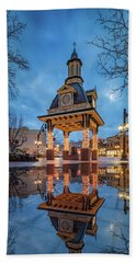 Bell Tower  In Beaver  Hand Towel by Emmanuel Panagiotakis