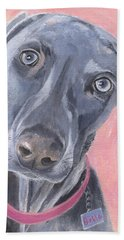 Hand Towel featuring the painting Bella by Jamie Frier