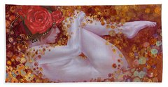 Bella Rose Hand Towel