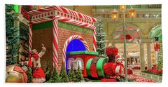 Bellagio Christmas Train Decorations And Ornaments Hand Towel