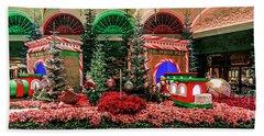 Bellagio Christmas Train Decorations Panorama 2017 Hand Towel