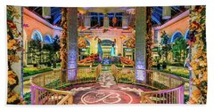 Bellagio Conservatory Fall Peacock Display Gazebo View 2017 Bath Towel