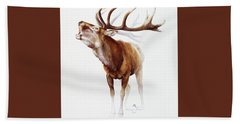 Belling Stag Watercolor Hand Towel