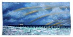 Belmar's Fishing Pier Hand Towel