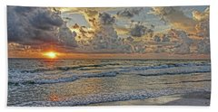 Beloved - Florida Sunset Hand Towel by HH Photography of Florida