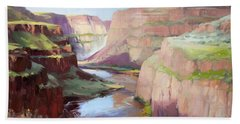 Below Palouse Falls Hand Towel