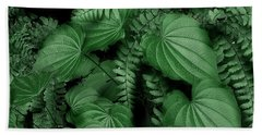 Below The Canopy Hand Towel by Mike Eingle