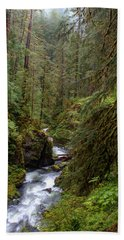 Below The Falls Hand Towel by David Andersen