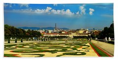 Hand Towel featuring the photograph Belvedere Palace Gardens by Mariola Bitner