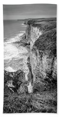 Bempton Cliffs Hand Towel by Nigel Wooding