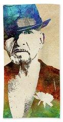 Ben Kingsley Hand Towel by Mihaela Pater