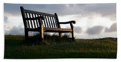 Bench At Sunset Hand Towel