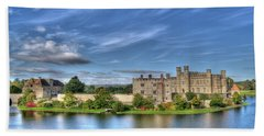 Bench View Of Leeds Castle Hand Towel