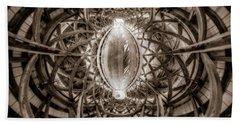 Beneath The Arches Of Pont Bordeleau Bridge - Bw Hand Towel