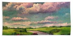 Beneath The Clouds Of Paradise Hand Towel
