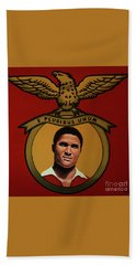 Benfica Lisbon Painting Hand Towel by Paul Meijering