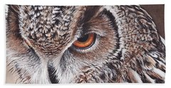 Bengal Eagle Owl Bath Towel