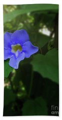 Bengal Trumpet Flower Blue Tones Bath Towel