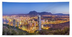 Benidorm At Sunrise, Spain. Hand Towel