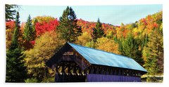 Bennett Covered Bridge In Fall Bath Towel